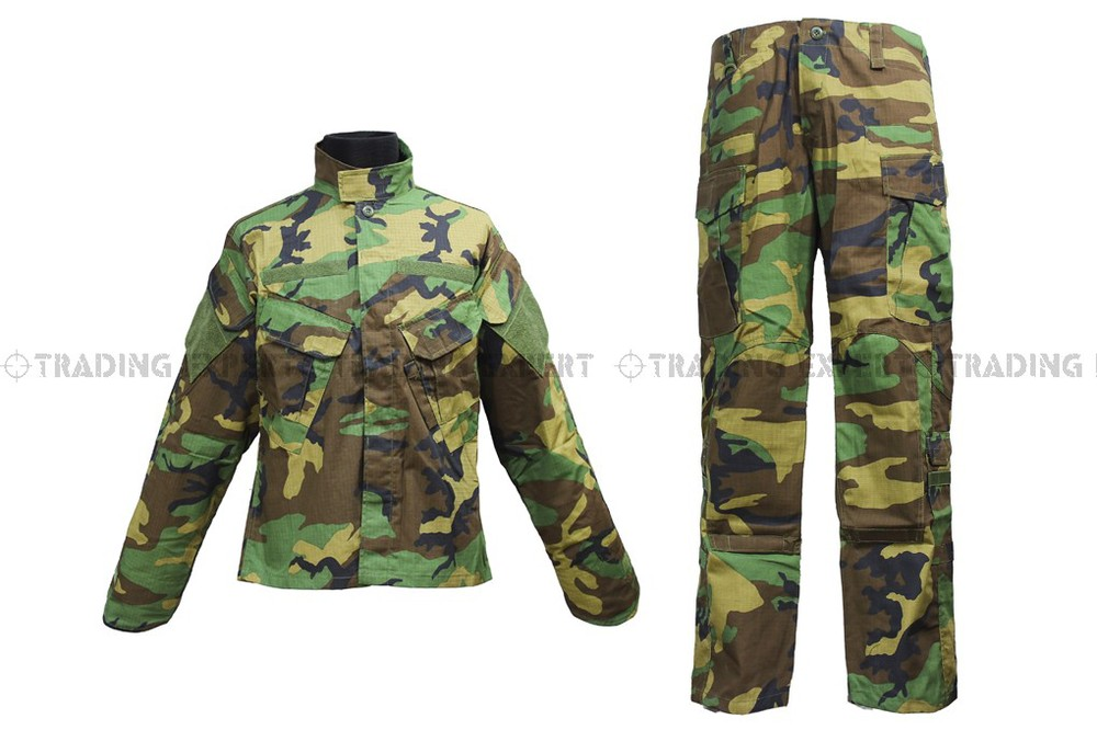 Army Suit Velcro Clothing Green Camo CL-02-GC free shipping<br><br>Aliexpress