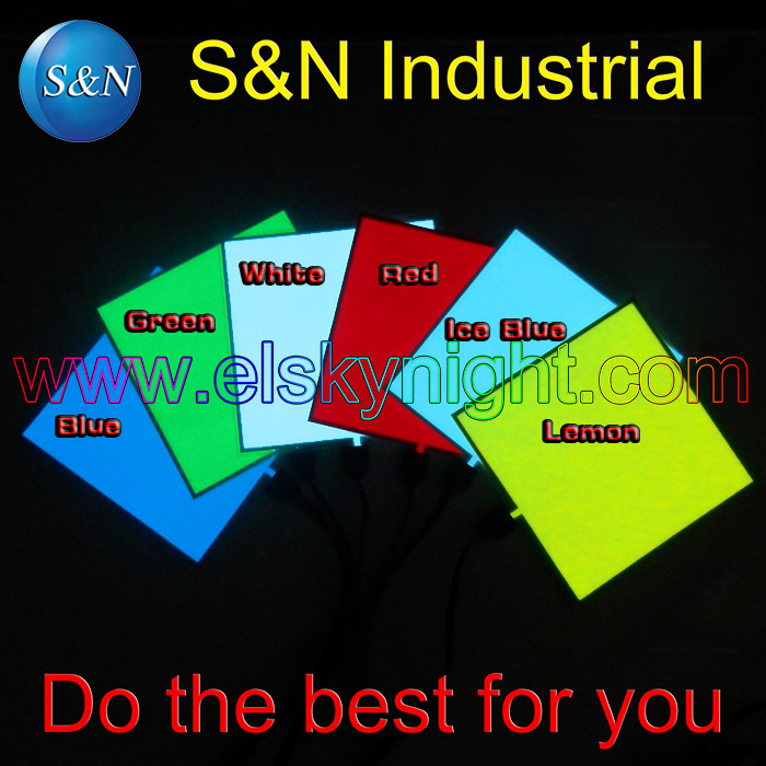 6colors for choosing10X10CM el sheet el panel el backlight for car,house,party,dispaly,holiday,festival and model decoration(China (Mainland))