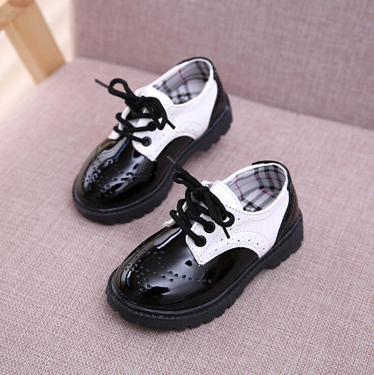 Toddler girl boots children's kids patent leather boots boys single princess spring autumn chaussure led enfant(China (Mainland))