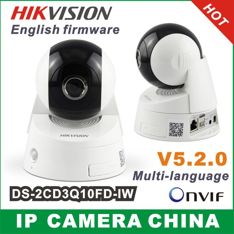 Hikvision ip camera DS-2CD3Q10FD-IW 720p 1MP PTZ wifi ONVIF SD Alarm Wireless Built-in microphone, two-way audio Night Vision(China (Mainland))