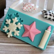 3D Snowflake Birthday Silicone Candle Mold Handmade Soap Mold Cake Sugarcraft Fondant Tools   JH027(China (Mainland))