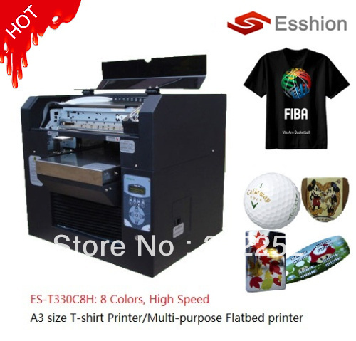Multi purpose 8 colors a3 size dtg t shirt printer for Dtg t shirt printing company