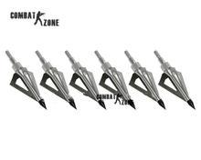 12pcs lot archery arrow arrowhead 100 grain fiberglass arrow broadhead 3 blades screwing on carbon arrow