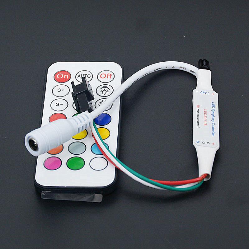 Mini Led Symphony RGB Controller 63 kinds of display model Wireless Digital Color LED Strip led Light for WS2811 DC 12V(China (Mainland))