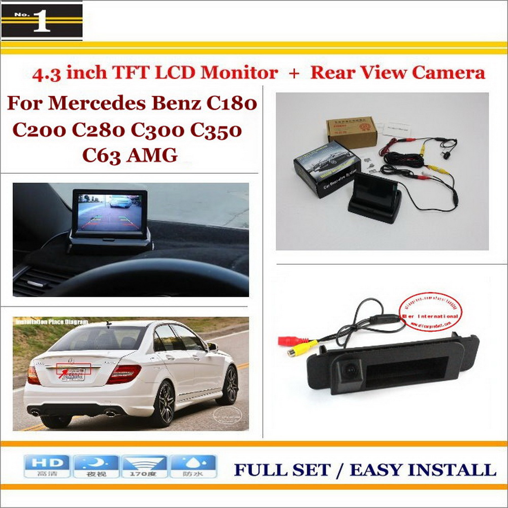 Car Parking Camera + 4.3 LCD Monitor NTSC PAL = 2 in 1 Parking Rearview System - For Mercedes Benz C300 C350 C63 AMG 2014~2015<br><br>Aliexpress