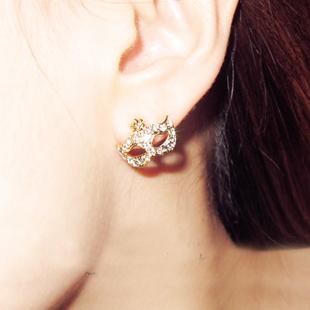 Free Shipping ear stud wholesale Accessories super junior bohemia mask small flower  stud earring eardrop