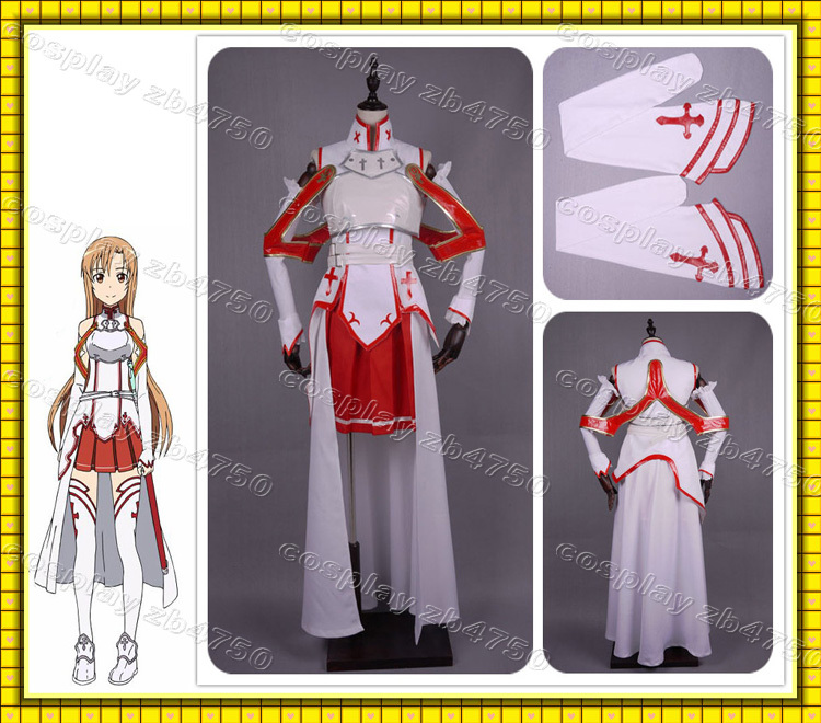 Sword Art Online Asuna Yuuki Cosplay Costume Free Custom Made - binbin cosplay Tailored Factory store