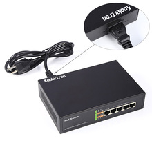 65W 5 Port Fast Ethernet Switch with 10/100 Mbps  for IP video Cameras, VOIP Phones, Wireless Access Points and More