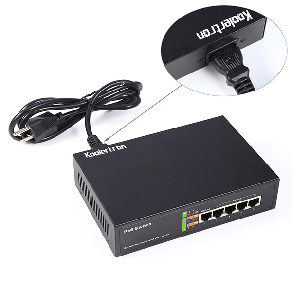 65W 5 Port Fast Ethernet Switch with 10/100 Mbps for IP video Cameras, VOIP Phones, Wireless Access Points and More(China (Mainland))