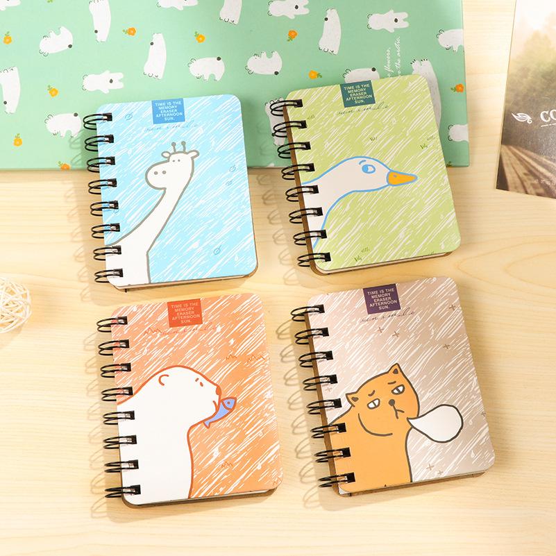 10.3*8 cm Kawaii cartoon Planner Hard Cover Coil Book Portable Pocket Notebook Diary Notepad Escolar Papelaria(China (Mainland))