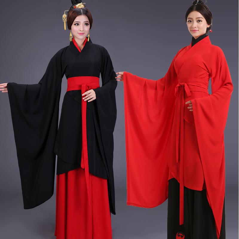 6 pcs New Arrivel antique chinois Cosplay Costume Ancient Chinese Hanfu femmes Hanfu vêtements Lady chinois
