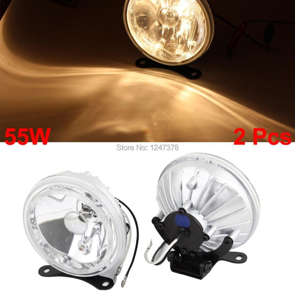 Universal Car Clear Lens Fog Light Bulb Lamp White 55W H3 2 Pcs/lot SUV fog lights universal Discount 50 95 x 60mm(D*H)(China (Mainland))