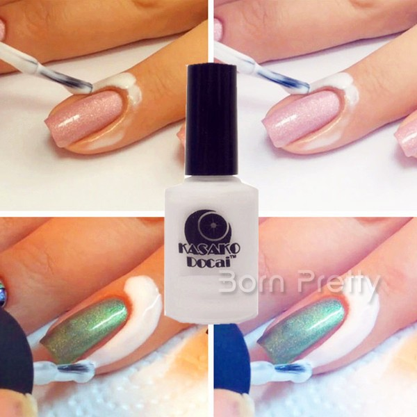 White L Off Liquid Nail Art Tape Finger Skin Protected Palisade Easy Clean Base Coat For