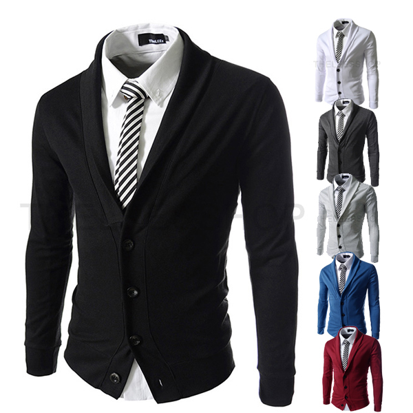 Spring Mens Personality Stand Collar Blazers Male Fashion Slim Fit Casual Suit Cardigan Blazer Dress Clothing M-XXL - TO JO's store