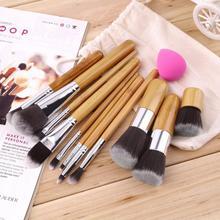 11Pcs Makeup Eyeshadow Foundation Concealer Brushes Sets+ Sponge Blender Puff New Fashion(China (Mainland))