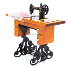 E-TING Hot Doll Mini Vintage Sewing Machine Furniture Toys Dollhouse Accessories for Barbie Doll Children's Gift(China (Mainland))