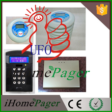 Double Direction Call System wireless buzzer vibrator(1keyboard 1base 10pagers 1station)(China (Mainland))