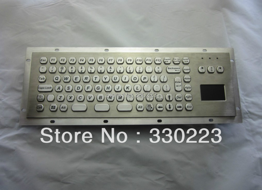 Metal Kiosk Keyboard with Touchpad<br><br>Aliexpress