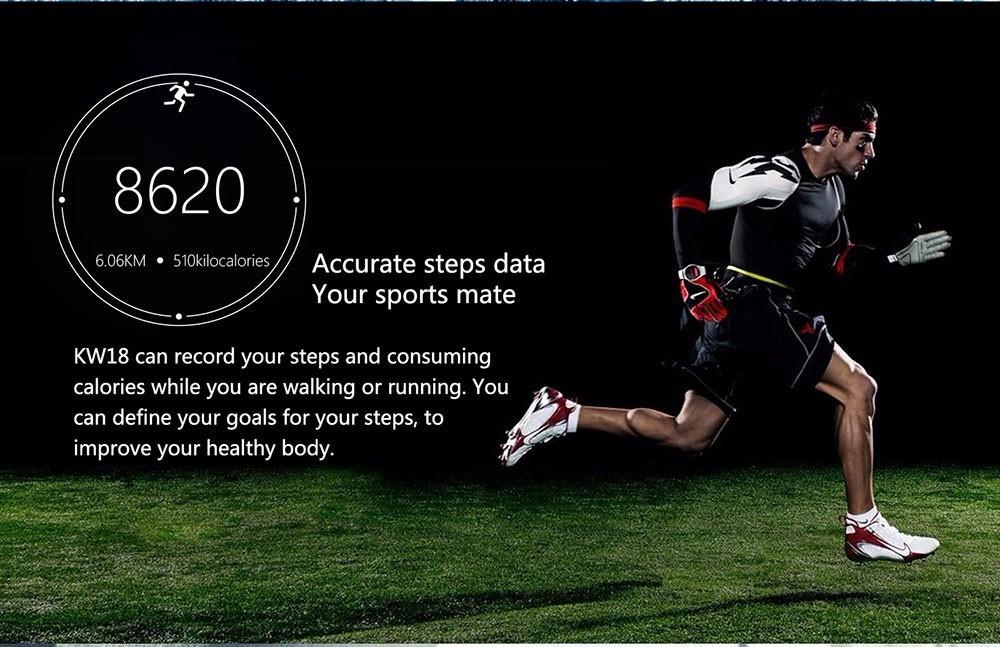 ถูก ผลิตภัณฑ์ใหม่KW18สมาร์ทWatch Android/IOSดิจิตอล-นาฬิกาบลูทูธR Eloj Inteligente SIMรอบHeart Rate Monitorนาฬิกานาฬิกา
