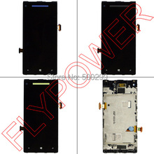 For HTC 8X Lcd screen display with touch screen digitizer Assembly Frame mixed font b speaker