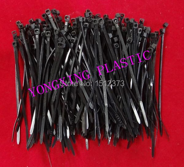 200 piece/lot self-locking nylon cable tie 2.5*100 black color lock the cable<br><br>Aliexpress