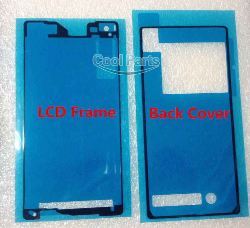 2pcs set original battery back door front frame adhesive for Back door and frame set