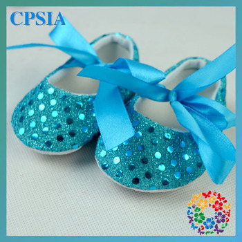 Turquoise Crib shoes bling bling baby shoes 120pairs/lot free shipping 2014 Fshon shoes