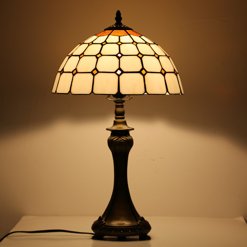 Hot sale wholesale vintage stained glass table lamp for Living room lamp