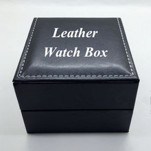 Fashion Leather Watch Box Black Luxury Watch Box With Pillow Wholesale Jewelry Box Gift Box Can