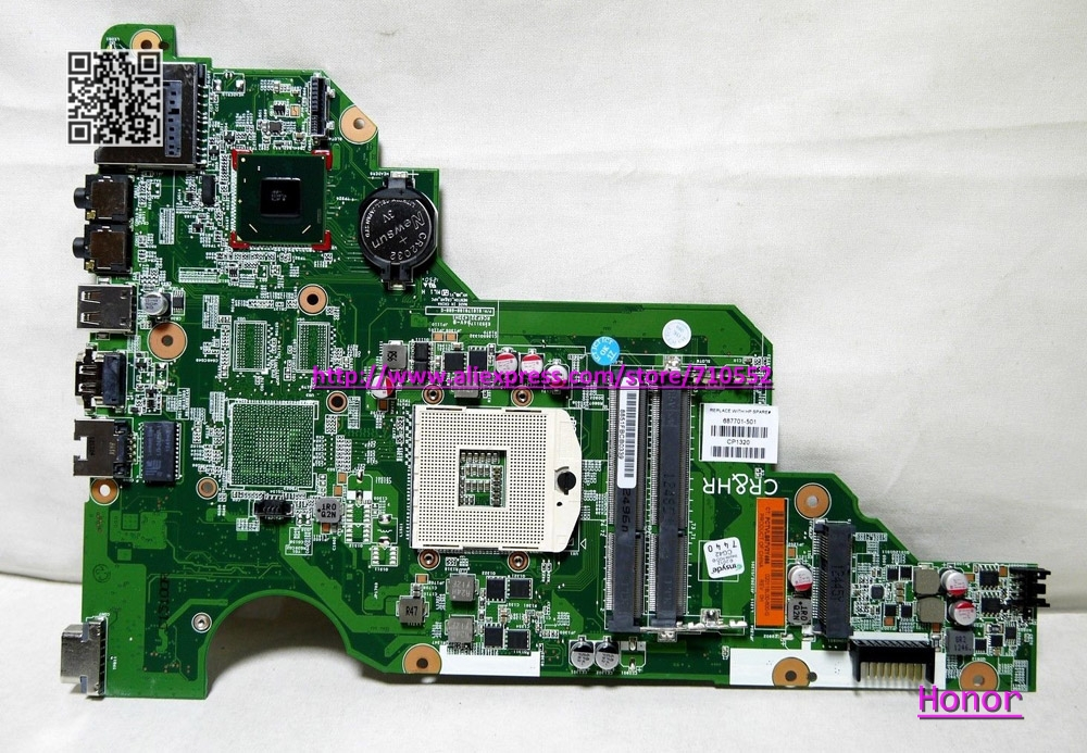 for HP CQ58 650 series 687702-001 laptop motherboard fully tested & working perfect