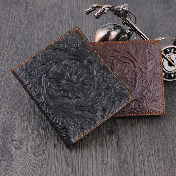 New Arrival Classic Brand Cowhide Genuine Leather Fashion Design Short style Men Wallet Factory Price On Promotion(China (Mainland))