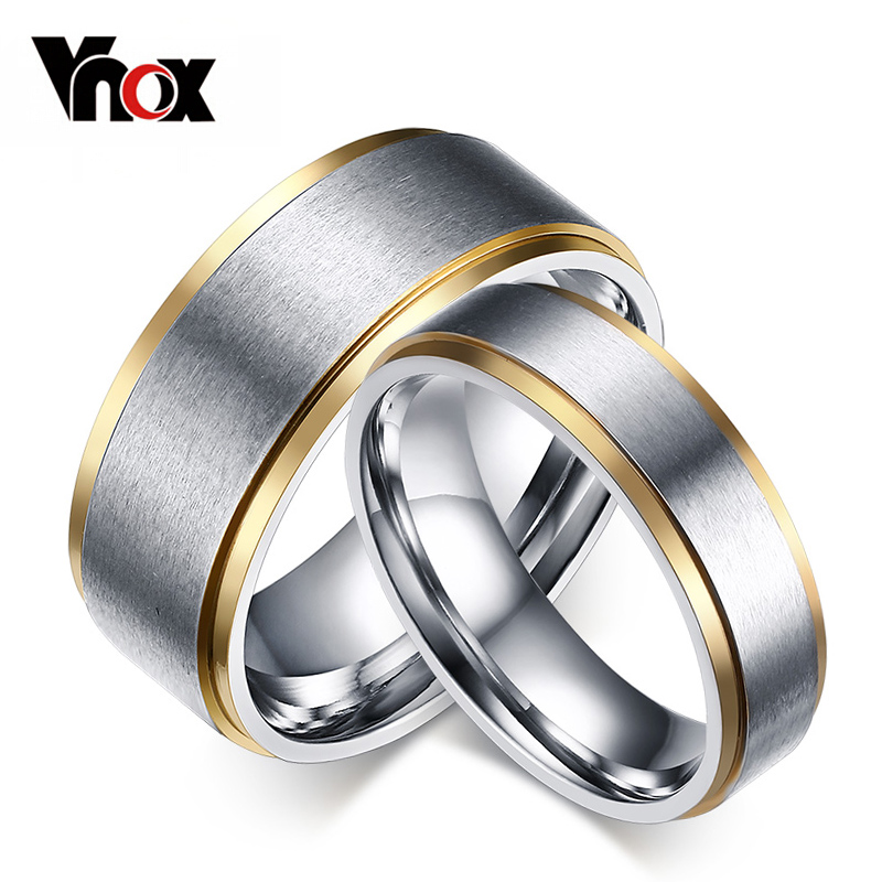Cheap Wedding Bands For Men: 1Piece ! Rings For Women Men Stainless Steel Wedding Bands