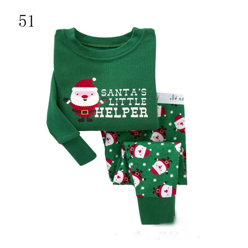Design Kids Christmas Pajamas Long Sleeve Winter Cotton Children Sleepwear Toddler Girl Boy Clothing TZ11(China (Mainland))
