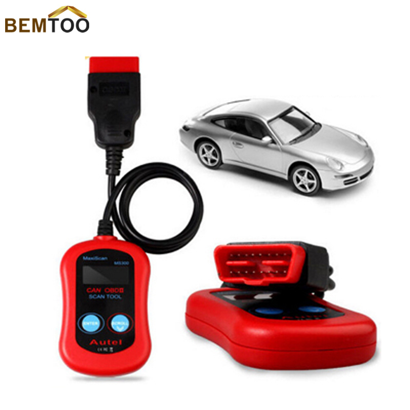 Autel MaxiScan MS300 CAN Auto Car OBD2 OBD II Diagnostic Scanner Code Reader Scan Tool ,Free Shipping(China (Mainland))