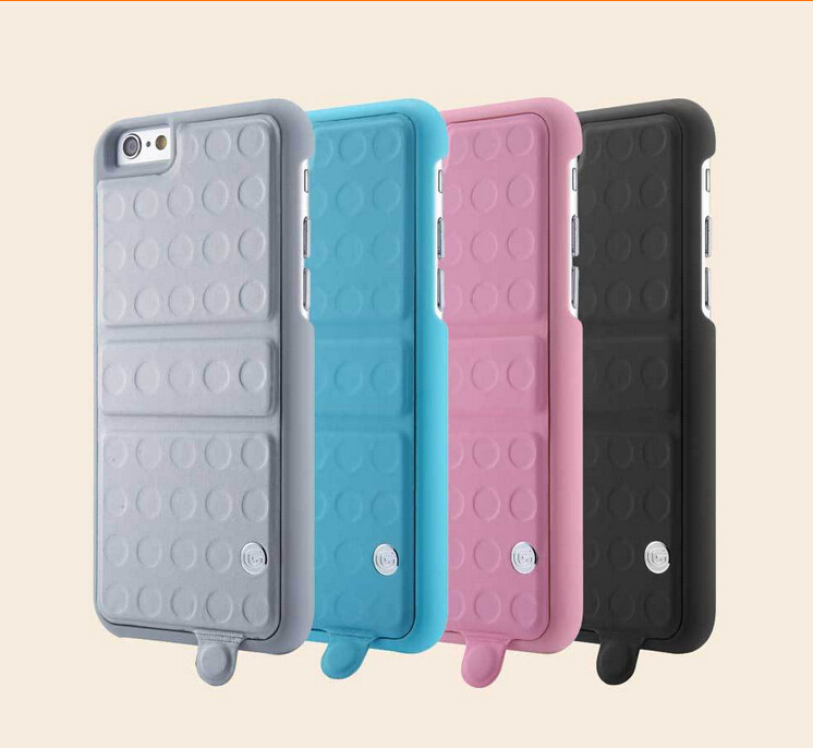 10Pcs/Lot G-Case For iPhone6 Plus 5.5'',G-Case Lego Series 360 Rotating PU+PC Hard Case Cover For iPhone6 Plus 5.5'' M-17-1(China (Mainland))