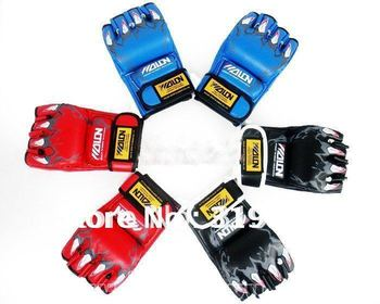 boxing glove, training  Sandbag Gloves+boxing bangage, fighting half-finger glove, MMA Muaythai Muay sanshou, free shipping