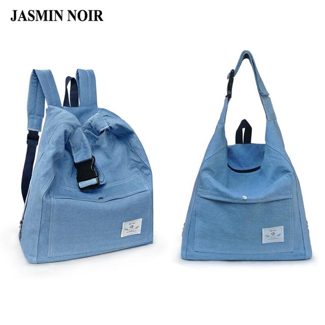 Женщины Рюкзаки сумка через Плечо Путешествия холщовый мешок мульти функция Джинсы ...