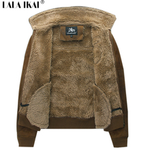 Plus Size 8XL Warm Thick  Men Winter Jacket Casual Big Size Coats Men's Fur Coat Cashmere Long Sleeve Man Clothing KDW011-3(China (Mainland))