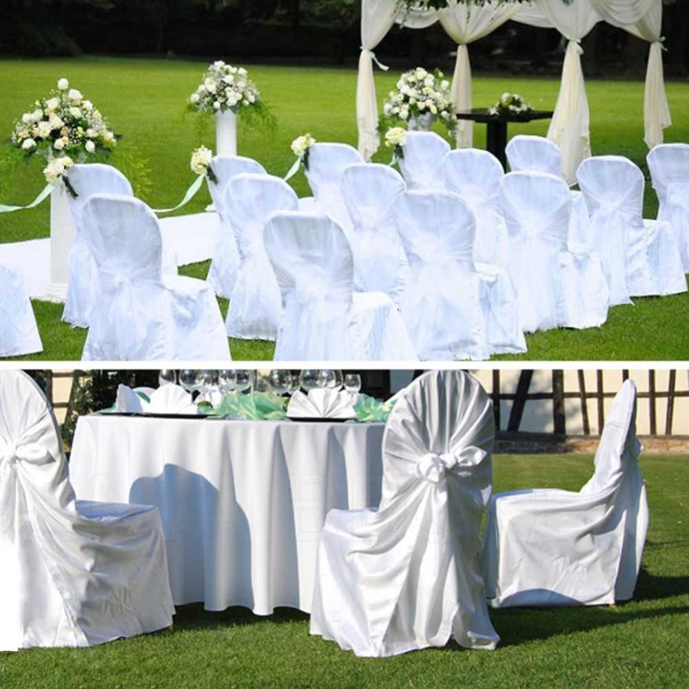 10Pcs/lot Satin Chair Cover Wedding Banquet Party Dinner Decoration Product Supplies 110cm*140cm(China (Mainland))