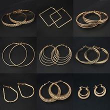 Fashion Big Hoop Earrings Women 19 Styles Good Plated Circle Round Nickel Lead Free Magi Jewelry(China (Mainland))