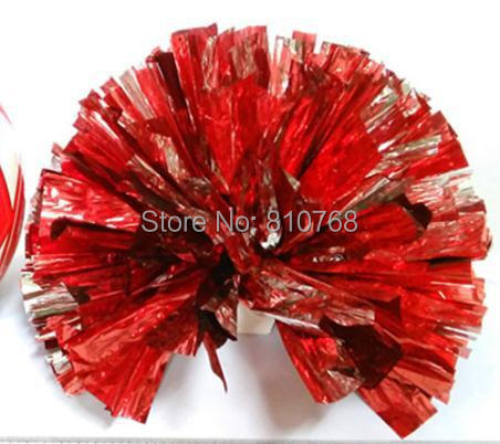 Free Shipping Red All Star first single paragraph cheerleading pom pon Cheerleading cheer supplies#1833(China (Mainland))