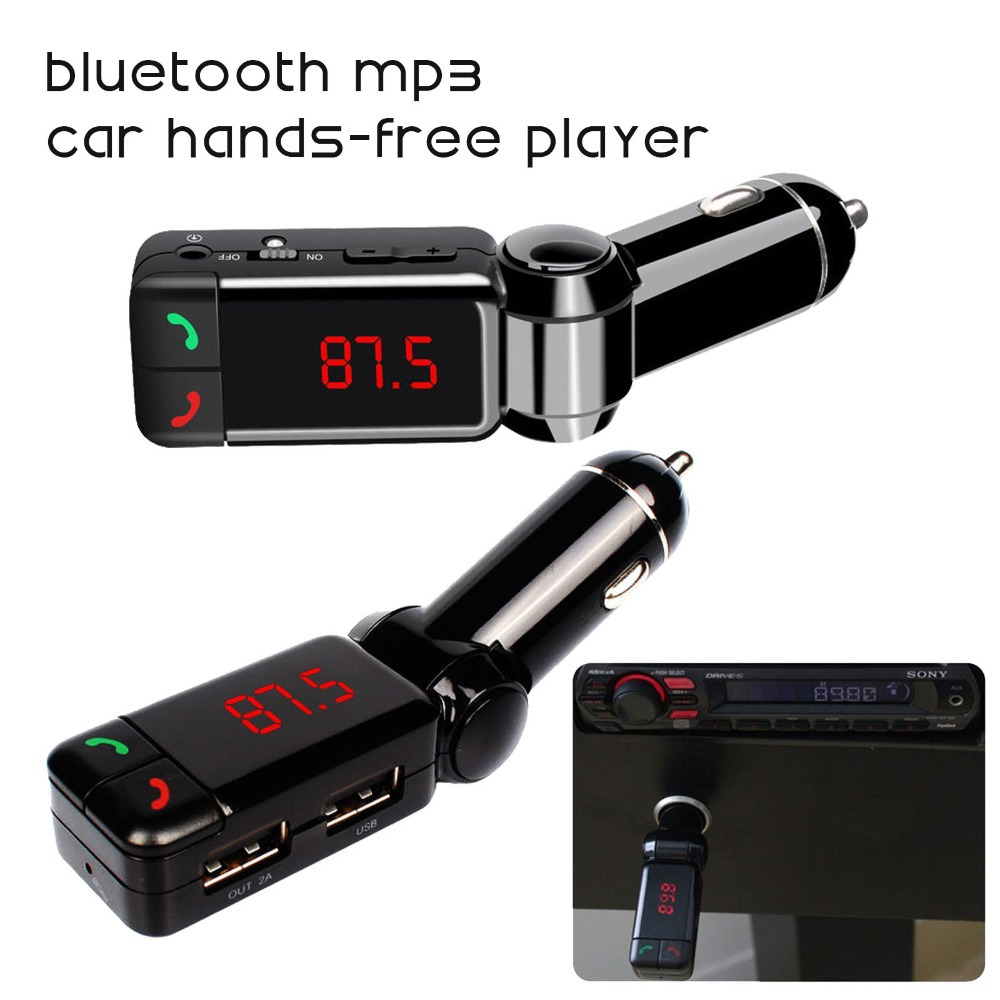 car mp3 audio player bluetooth fm transmitter wireless fm. Black Bedroom Furniture Sets. Home Design Ideas