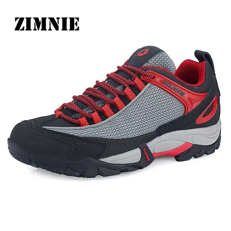 New Arrival Autumn Fashion Mesh Genuine Leather Waterproof Outdoor Shoes Hiking Shoes High Quality Comfortable Men Sneakers<br><br>Aliexpress