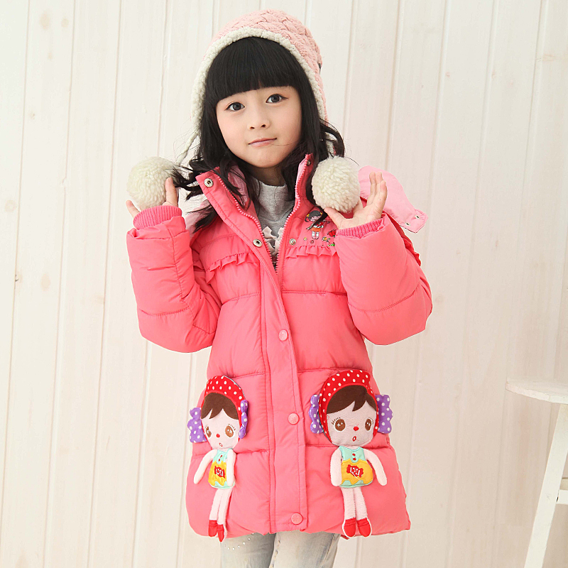 2014 new winter coat Kids Girls Boys thick cotton jacket in warm jacket and long sections shipping<br><br>Aliexpress