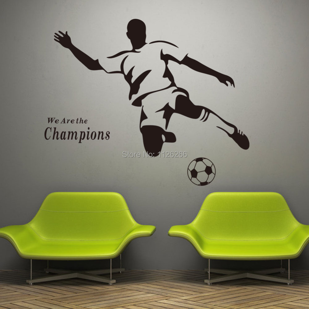 online buy wholesale football wall stickers from china china flag map wall sticker diythinker