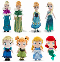 New Arrival Fever Elsa Anna doll Princess Cinderella plush Dolls for girls Mermaid dolls for girls Elsa doll Birthday Gift