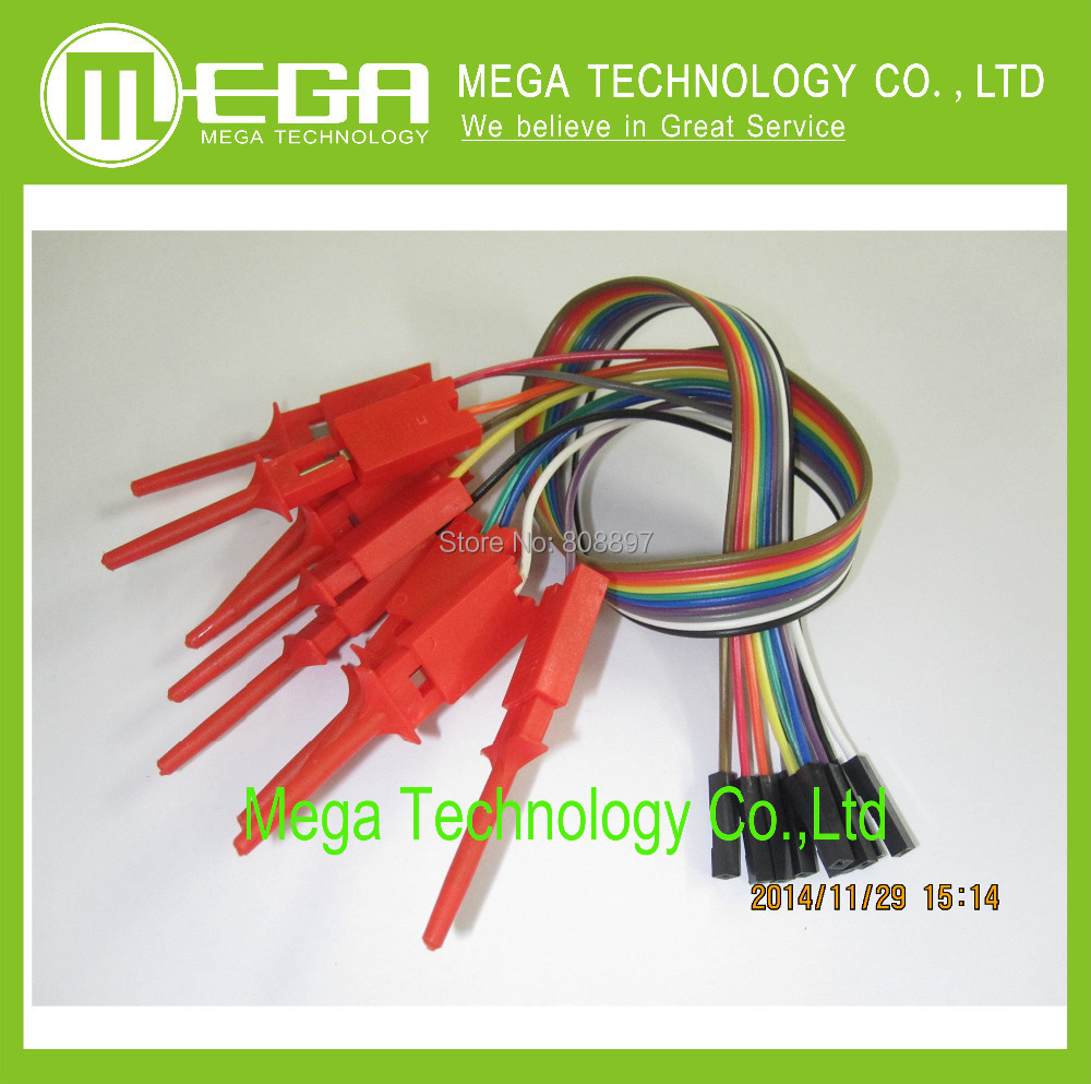 10pcs,Quality test of the quality test hook clip. Logic analyzer test folder. For USB 24M 8CH(China (Mainland))