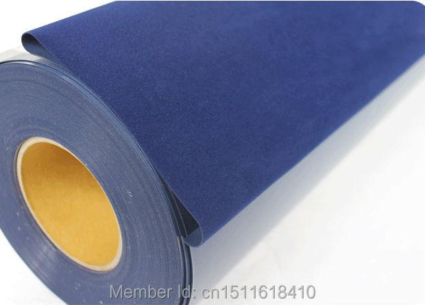 CDF-05 Navy blue Korea flock heat transfer vinyl for t shirt guangzhou supplier(China (Mainland))