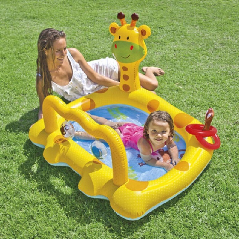 Inflatable Swimming Pool Giraffe Play Pool Baby Bath Swim Pool Ocean Ball Pool Thickening Folding PVC Newborn Bathtub(China (Mainland))
