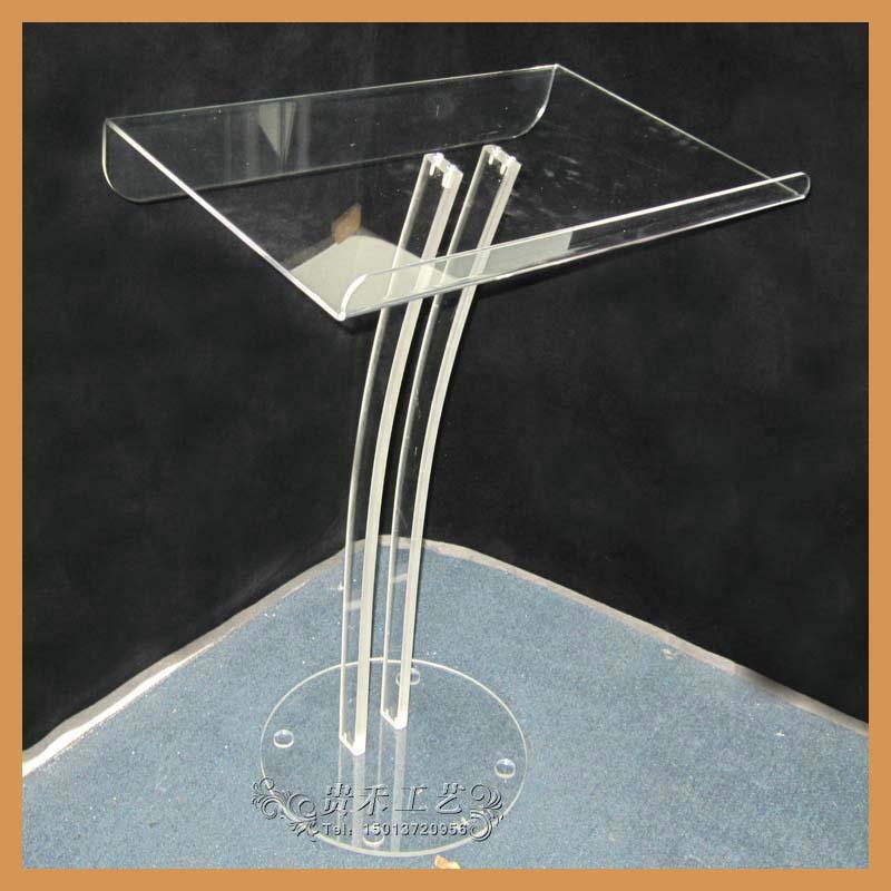 transparent acrylic podium lectern, high quality organic glass lectern(China (Mainland))